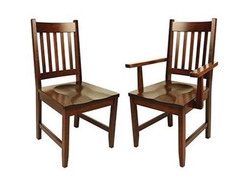 Horseshoe Bend 94ASolid Wood Customizable Side Chair