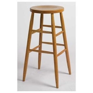 "Customizable Solid Wood Kitchen Stool 30"" Plain Leg"