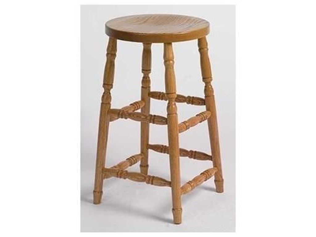 Horseshoe Bend Amish StoolsCustomizable Swivel Barstool 24
