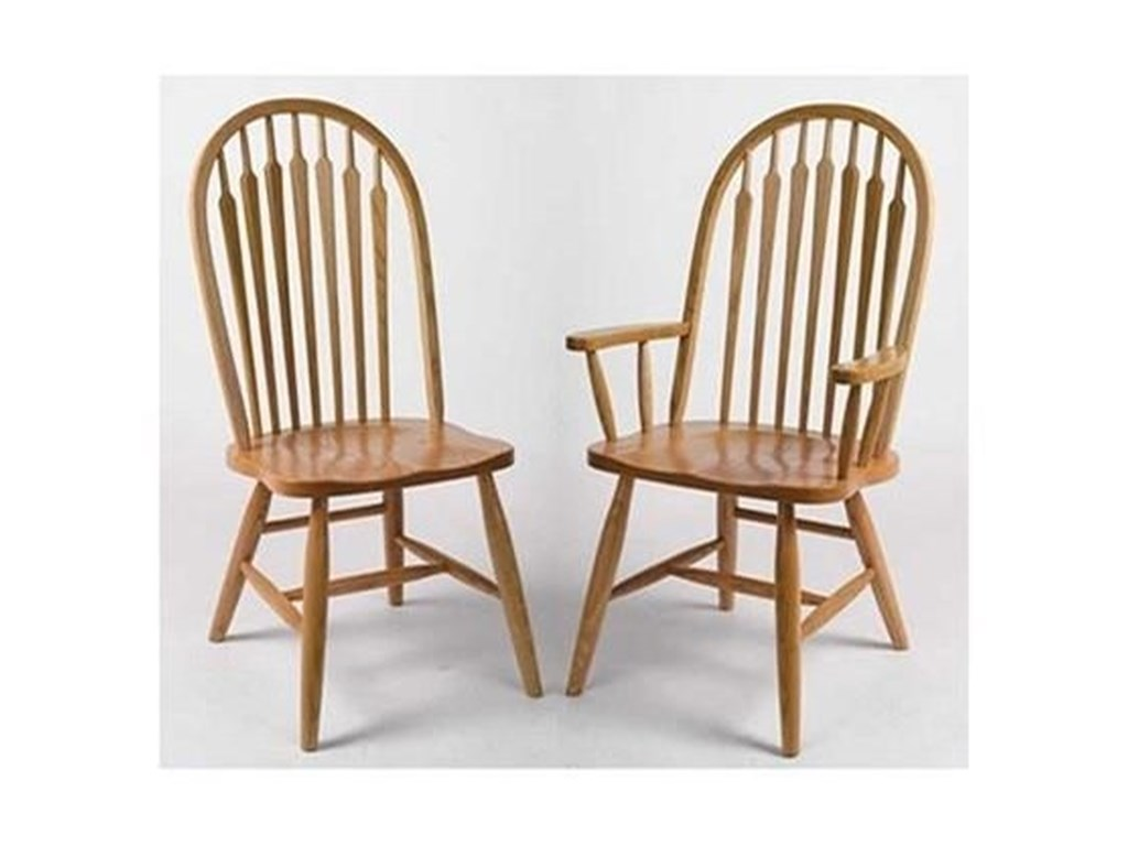 Horseshoe Bend ArrowbackCustomizable Solid Wood High Back Side Chair