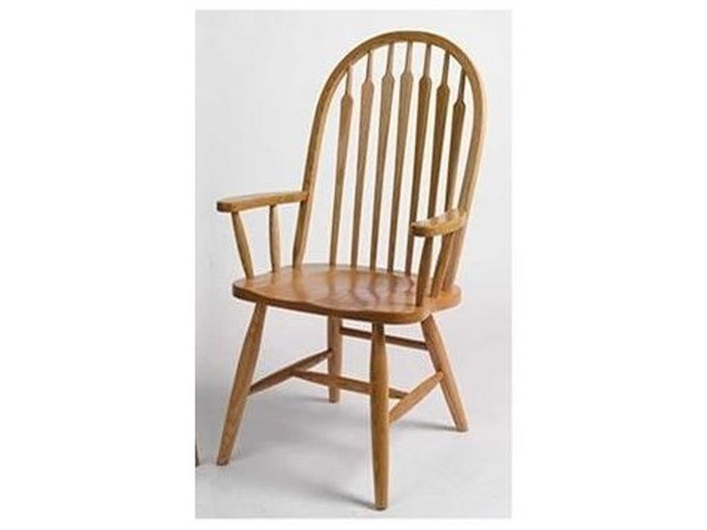 Horseshoe Bend ArrowbackSolid Wood Customizable High Back Arm Chair