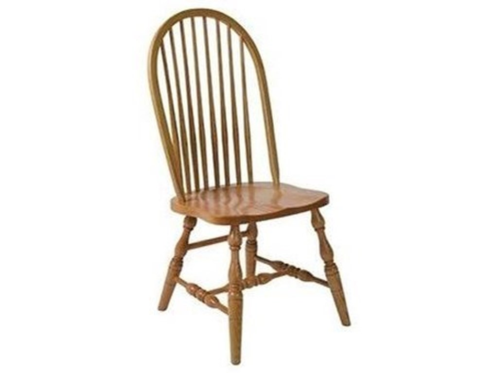 Horseshoe Bend Bent FeatherSolid Wood Deluxe High Back Side Chair