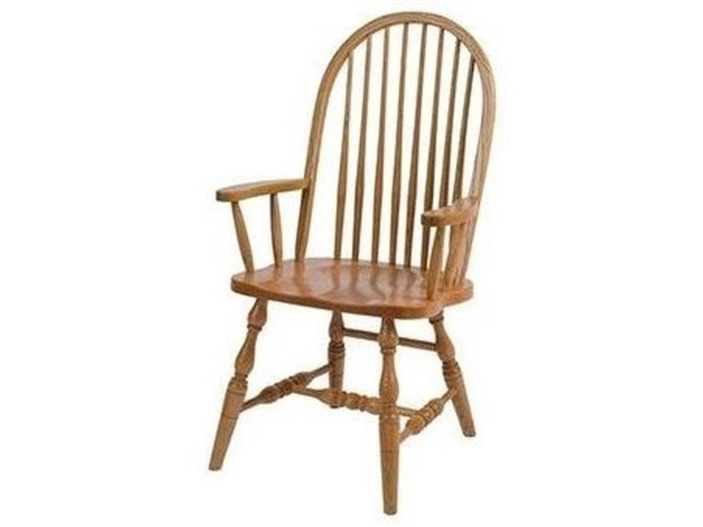 Horseshoe Bend Bent FeatherSolid Wood Deluxe High Back Arm Chair