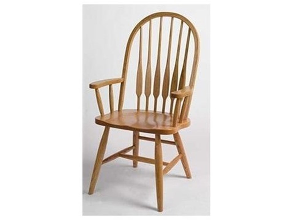 Horseshoe Bend Feather BackSolid Wood High Back Spindle Arm Chair