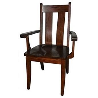 Customizable Solid Wood Bent Back Arm Chair