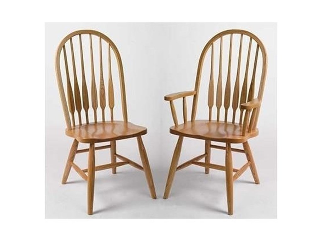 Horseshoe Bend SpindleEight Spindle High Back Side Chair