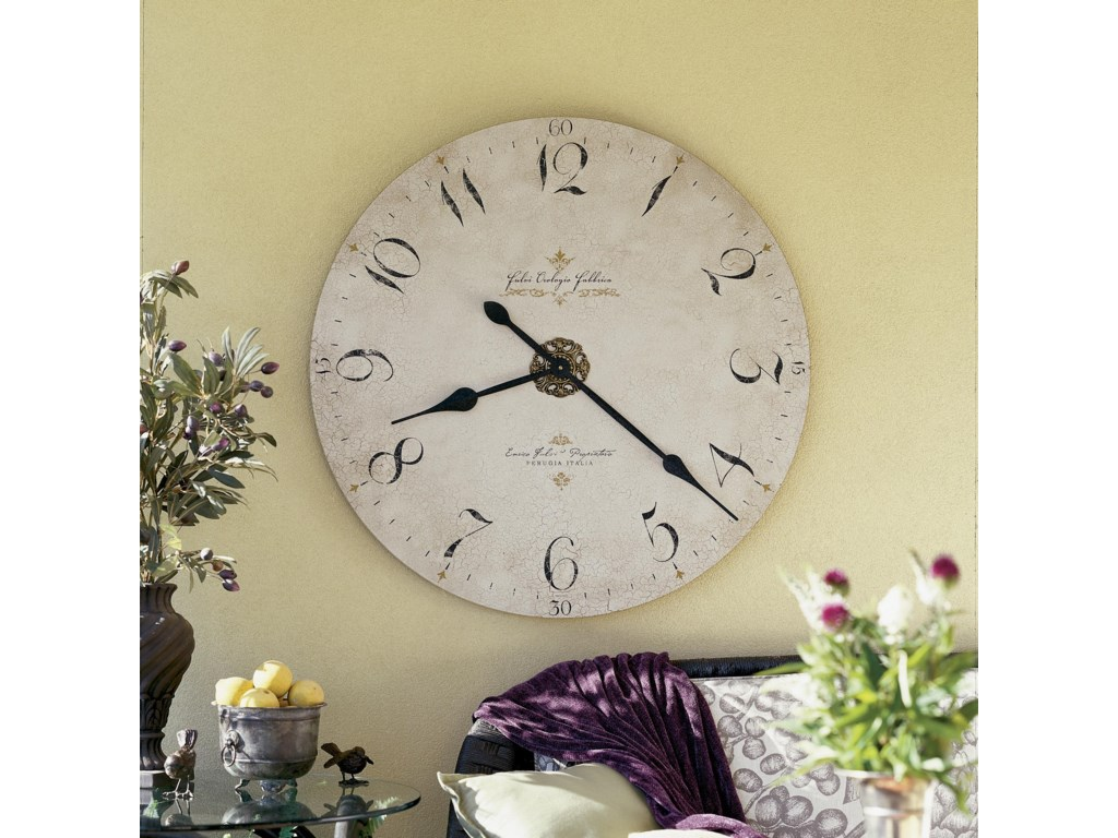 Wall Clock Shown in Room Setting