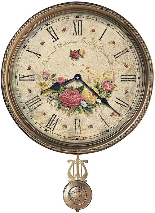 Howard Miller 620 Savannah Botanical VII Wall Clock