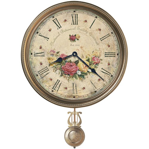 Howard Miller 620 Savannah Botanical VII Wall Clock