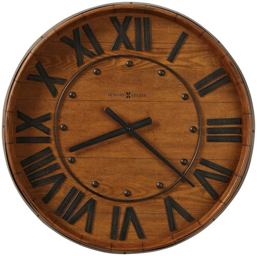 Howard Miller Wall Clocks Wine Barrel Wall Clock