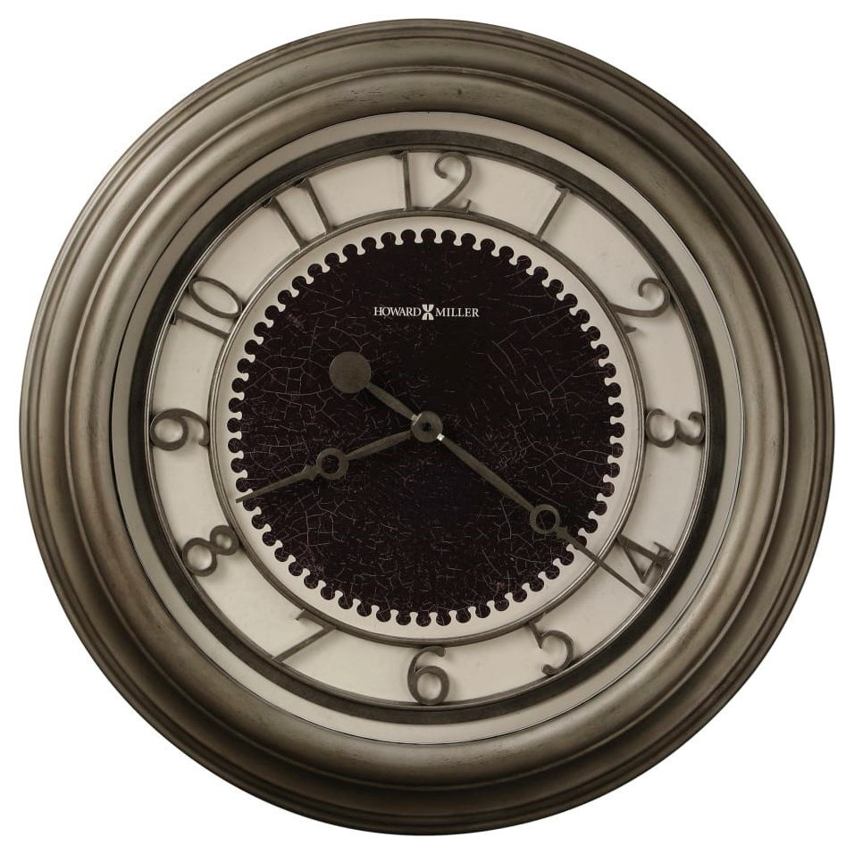 Kennesaw Antique Nickel Wall Clock