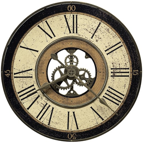 Howard Miller Wall Clocks Brass Works Wall Clock with Visible Gears