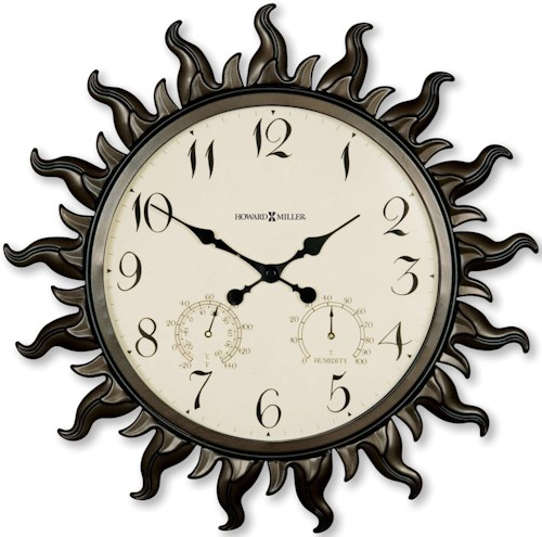 Howard Miller Wall Clocks Sunburst II Wall Clock