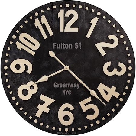 Fulton Street Wall Clock