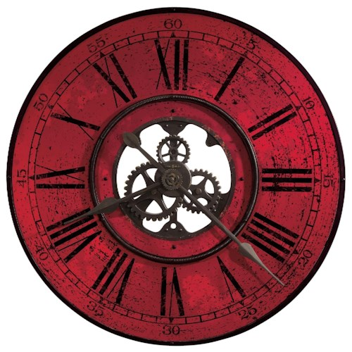 Howard Miller Wall Clocks Red Brassworks Wall Clock