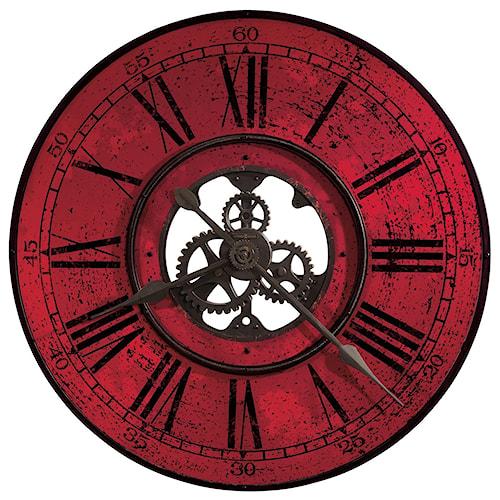 Howard Miller Wall Clocks Red Brassworks Wall Clock