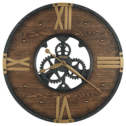 Howard Miller Wall Clocks Murano Round Wrought Iron Wall Clock