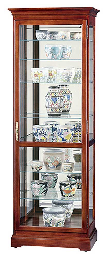 Captivating Cabinets Chesterfield Collectors Cabinet By Howard Miller