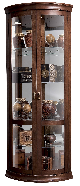 Howard Miller Corner Curios Chancellor Display Cabinet Wayside Furniture Curio Cabinets