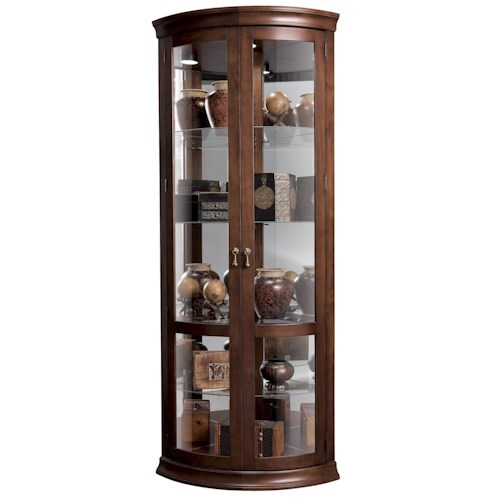 Howard Miller Corner Curios Chancellor Display Cabinet