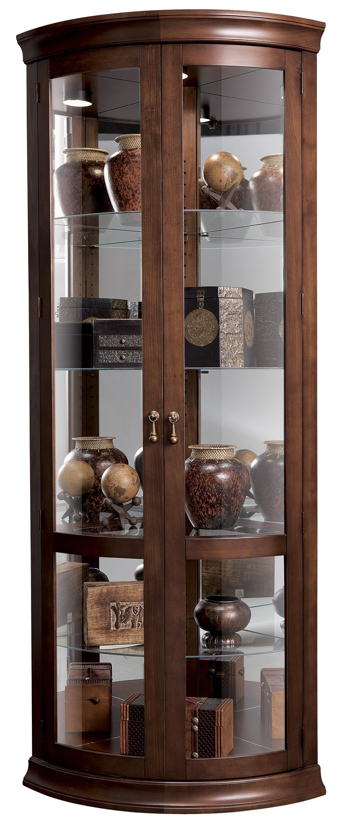 Corner Curios Chancellor Display Cabinet by Howard Miller  sc 1 st  HomeWorld Furniture & Howard Miller Corner Curios Chancellor Display Cabinet | HomeWorld ...