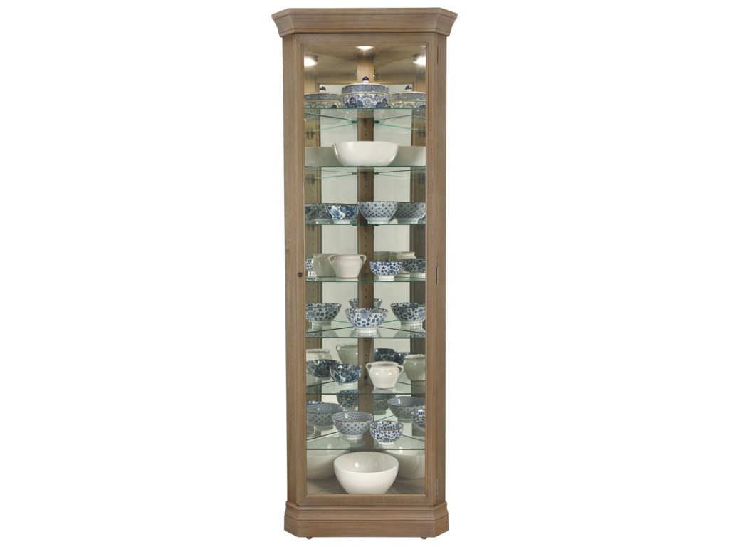Morris Home Furnishings GableGable Corner Curio Cabinet