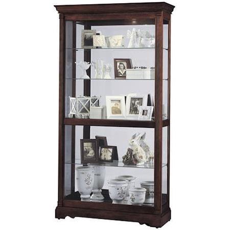 Harmony Large Sliding Door Curio Cabinet