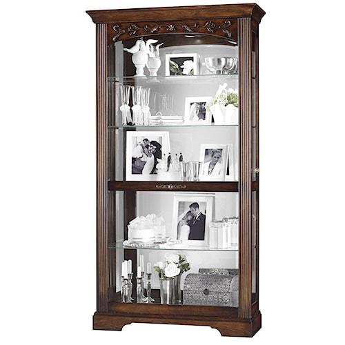 Howard Miller Furniture Trend Designs Curios Hartland Display Cabinet