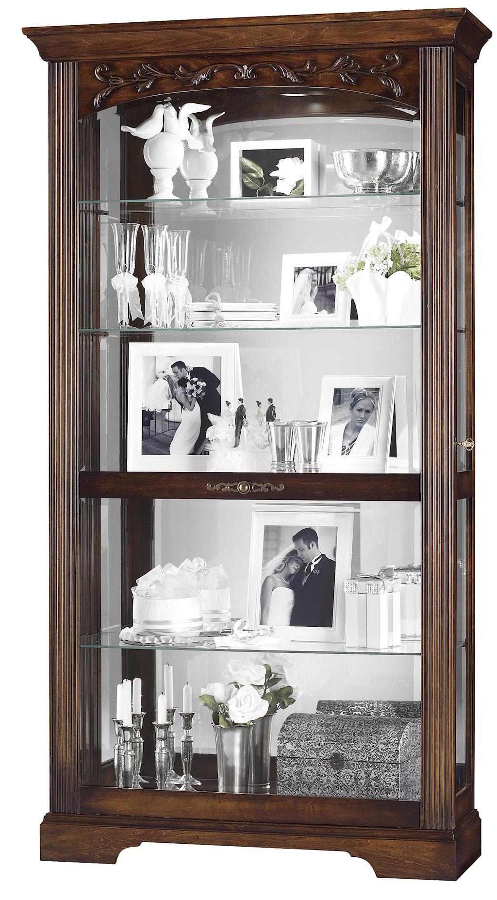 howard miller furniture trend designs curios hartland display