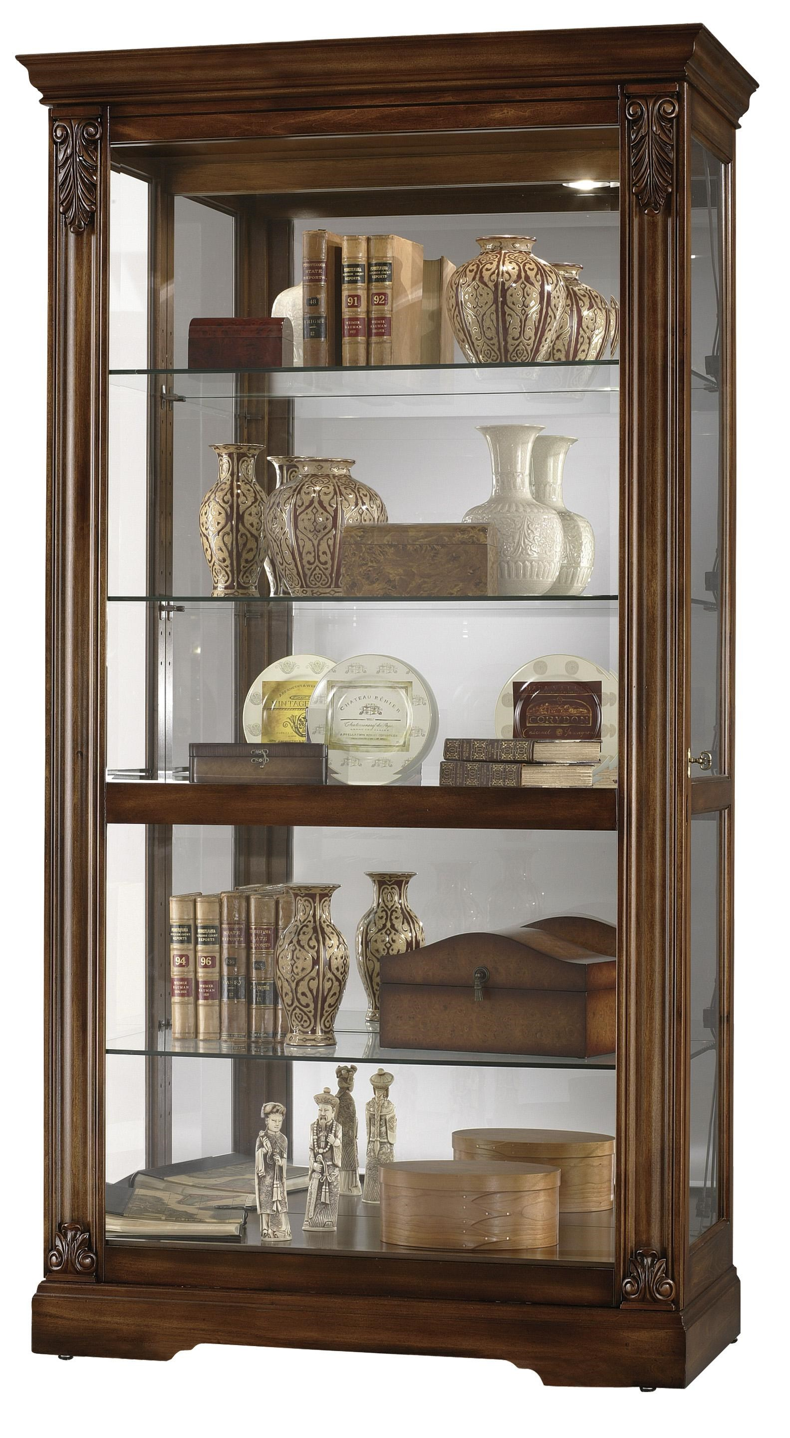 Furniture Trend Designs Curios Andreus Display Cabinet By Howard Miller
