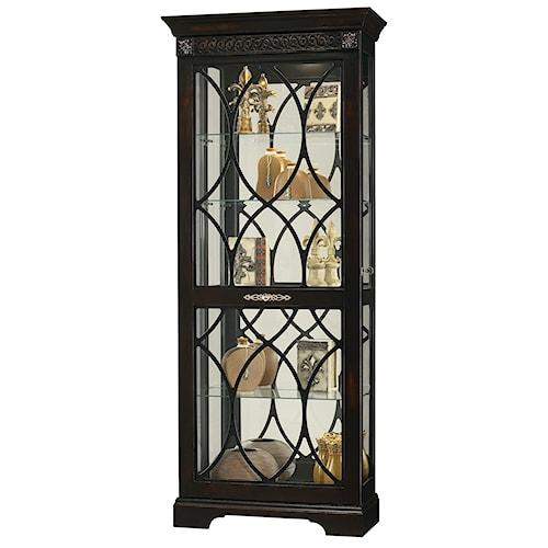 Howard Miller Furniture Trend Designs Curios Roslyn Display Cabinet