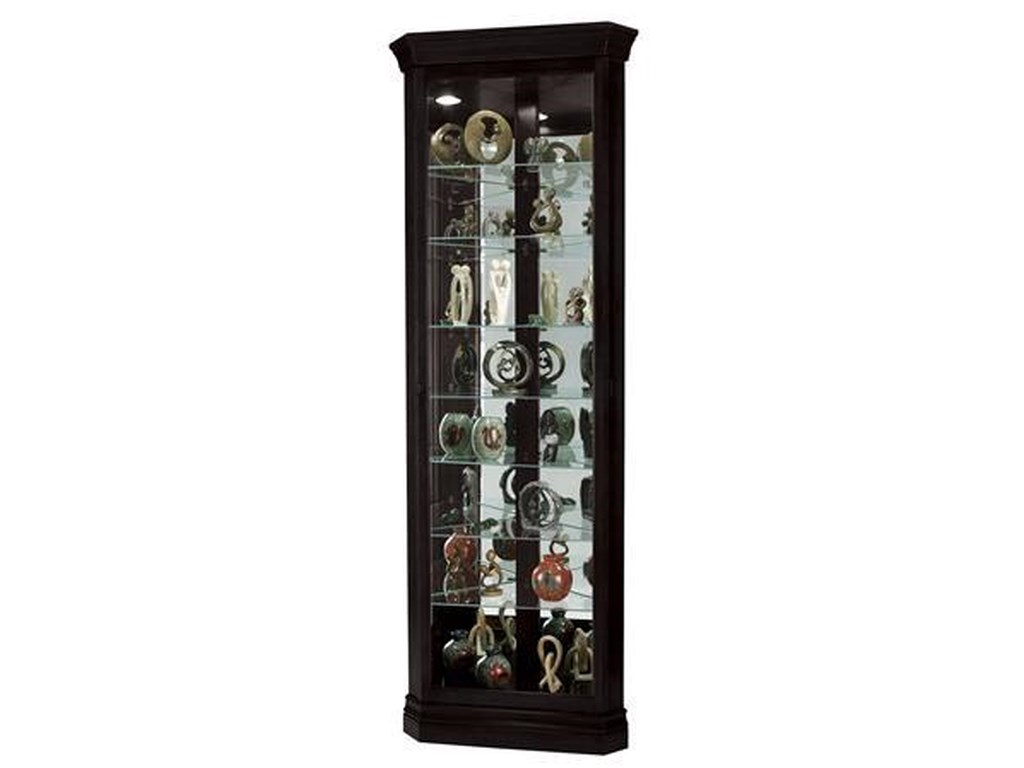 Morris Home Furnishings Gable -Gable Corner Curio Cabinet in Black