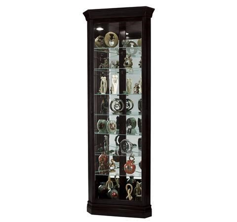 Morris Home Furnishings Gable  Gable Corner Curio Cabinet In Black