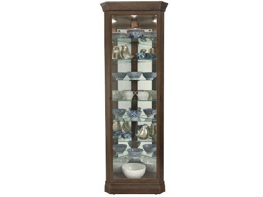Howard Miller Gable -Gable Corner Curio Cabinet