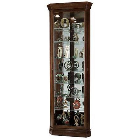 Gable Corner Curio Cabinet in Cherry