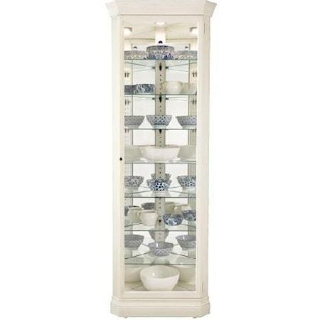 Gable Corner Curio Cabinet