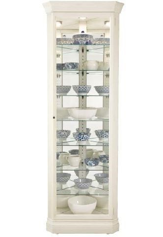Morris Home Furnishings Gable  Gable Corner Curio Cabinet