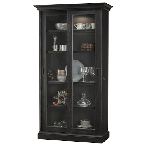 Howard Miller Cabinets Meisha IV Display Cabinet with Touch Lighting