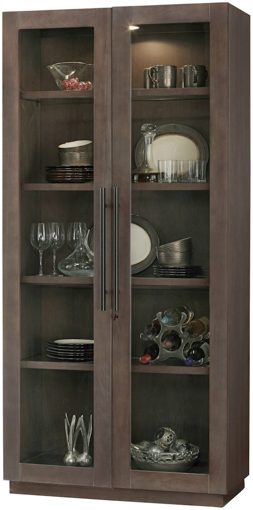 Howard Miller Cabinets Morrissey Cabinet with Interior Lighting