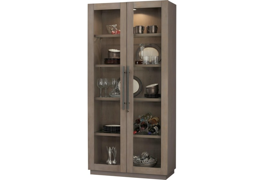 Howard Miller Cabinets Morrissey Ii Cabinet With Locking Glass