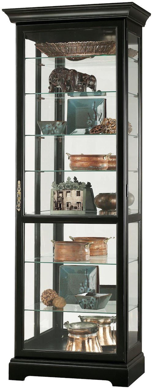 Howard Miller Cabinets Chesterfield III Curio Cabinet with Plate Grooves