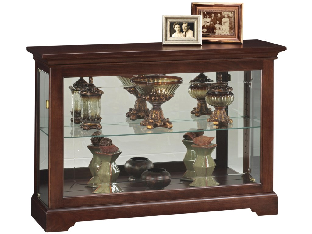 Cabinets Short Curio Cabinet With 1 Gl Shelf By Howard Miller