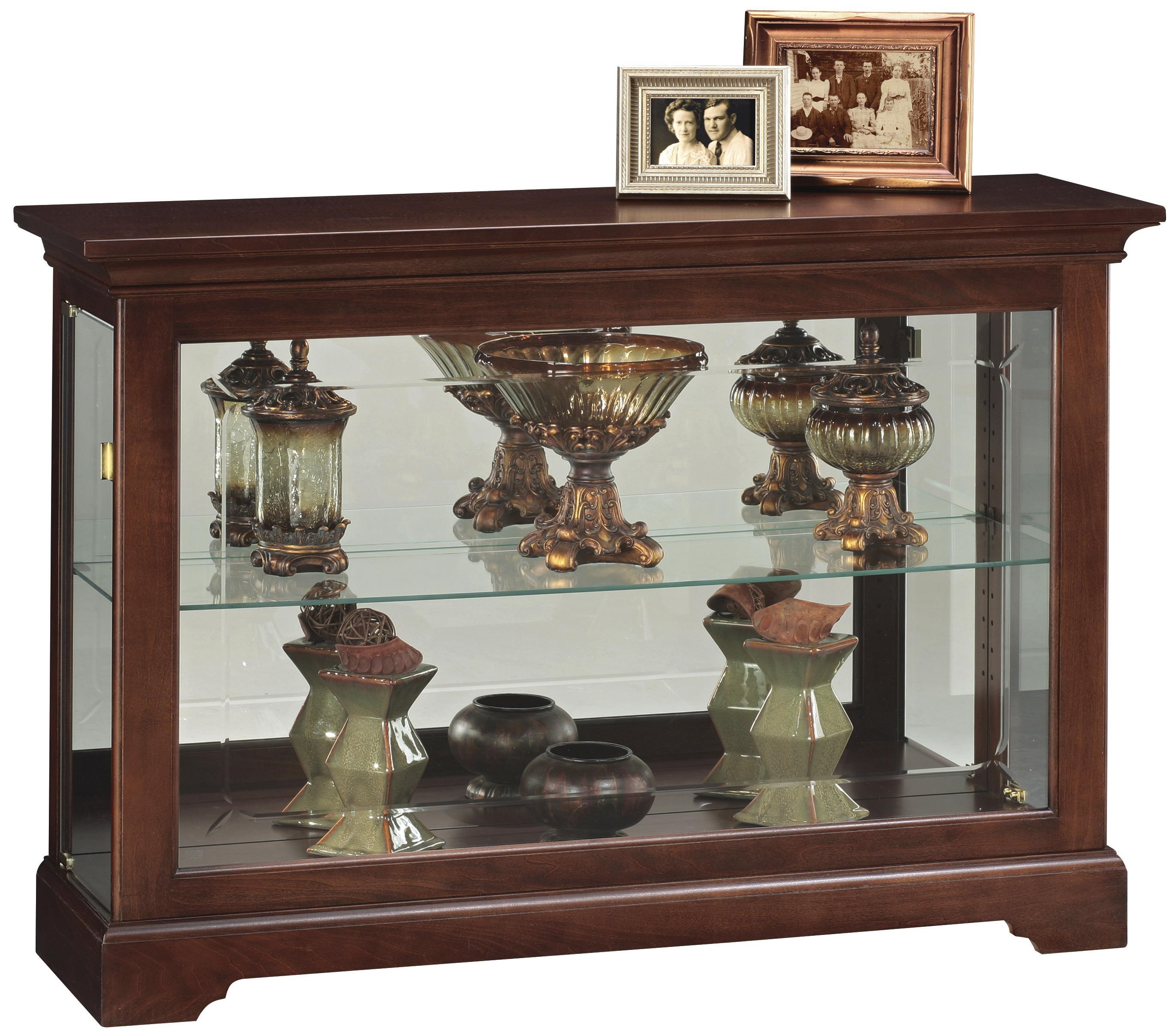Howard Miller Cabinets Short Curio Cabinet With 1 Glass Shelf