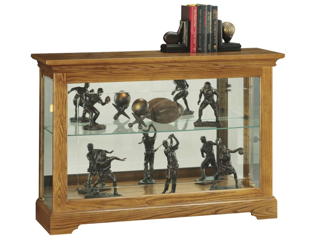 Howard Miller Cabinets Short Curio Cabinet With 1 Gl Shelf