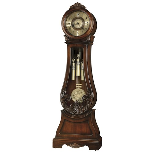 Howard Miller Clocks Diana Grandfather Clock with Decorative Overlays