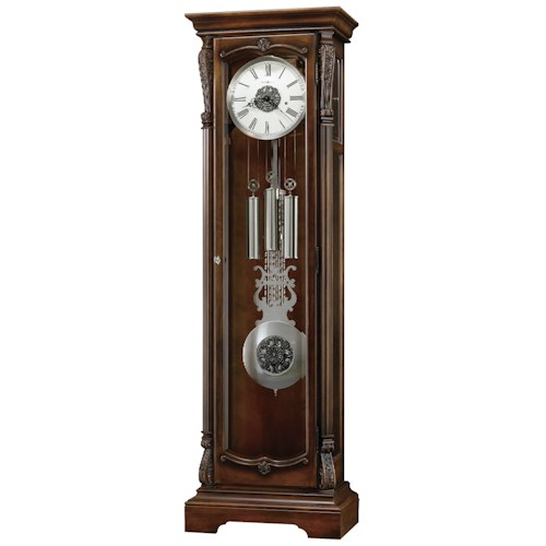 Howard Miller Clocks Wellington Grandfather Clock with Four Carved Caps