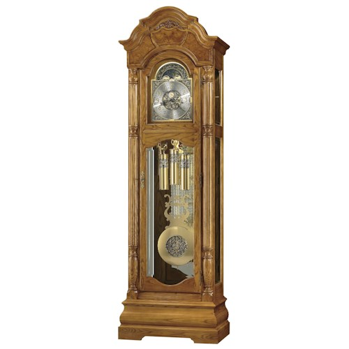 Howard Miller Clocks Scarborough Grandfather Clock with Decorative Carved Applique