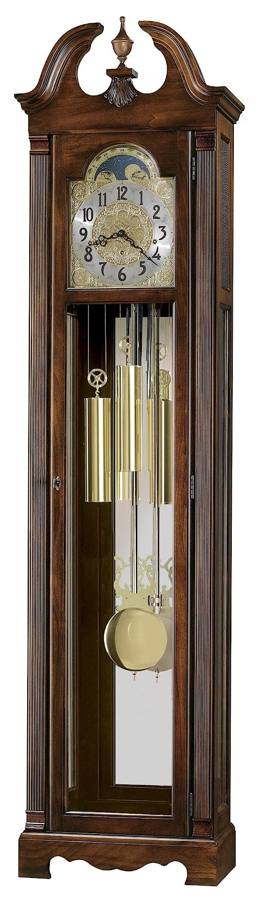 Howard Miller Clocks Warren Grandfather Clock with Polished Brass Dial