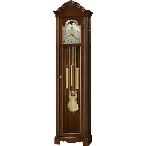 Howard Miller Clocks Nicea Grandfather Clock with Carved Shell