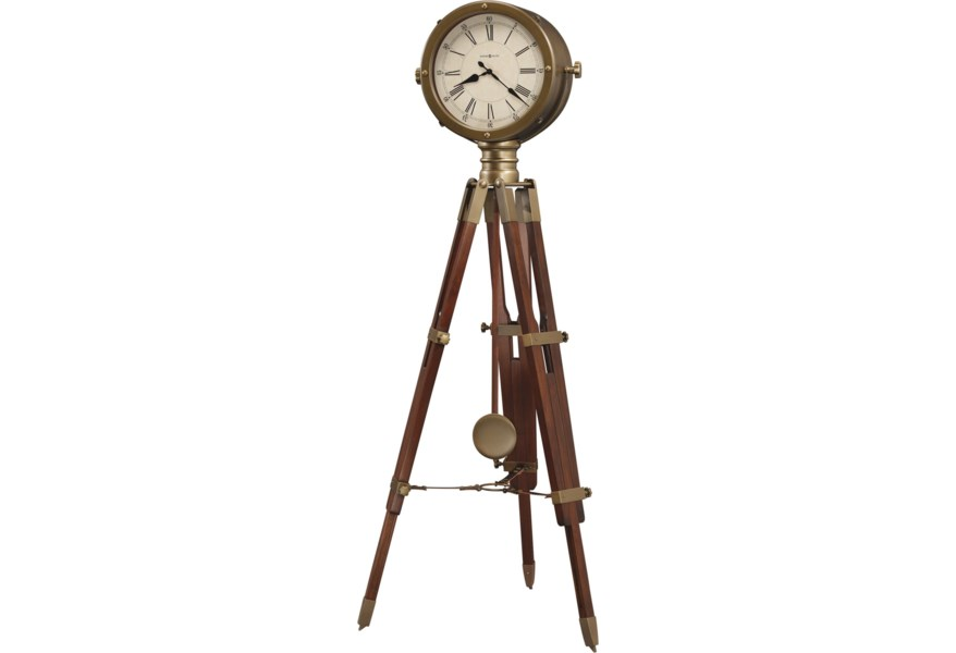 Howard Miller Clocks 615 080 Time Surveyor Tripod Floor Clock